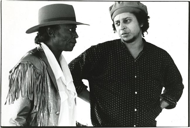 Miles Davis and photographer, co-director, Anthony Barboza