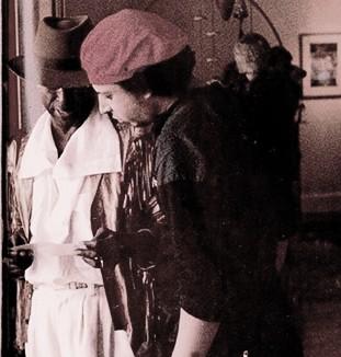 musician Miles Davis and photographer Anthony Barboza