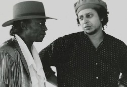 musician Miles Davis and photographer, co-director, Anthony Barboza